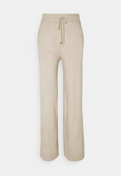 Vila - VIRIL STRAIGHT PANTS - Jogginghose - natural melange