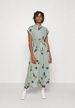 Vero Moda - VMFALLIE LONG TIE DRESS - Vestido camisero - green milieu
