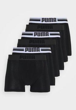 Puma - PLACED LOGO BOXER 6 PACK - Shorty - black