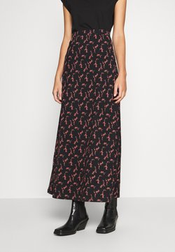 Anna Field - BASIC - Maxi skirt - Maxinederdele - black/rose