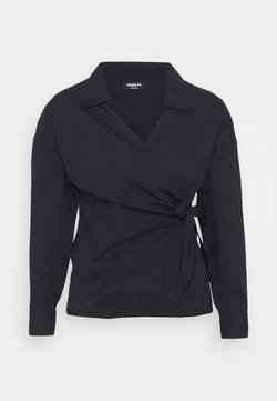 Simply Be - WRAP TIE - Langarmshirt - black