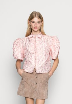 Sister Jane - MALLOW JACQUARD BOW BLOUSE - Blouse - pink