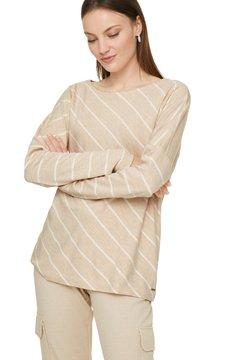 comma casual identity - Langarmshirt - light sand stripes