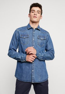 Scotch & Soda - WESTERN IN SEASONAL WASHES - Camicia - washed indigo