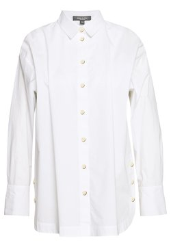mine to five TOM TAILOR - BLOUSE WITH SLIT DETAIL - Overhemdblouse - white