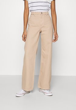 Monki - YOKO - Straight leg -farkut - beige medium dusty
