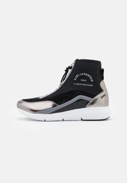 KARL LAGERFELD - VITESSE SOCK ZIP - Sneakers hoog - black/silver