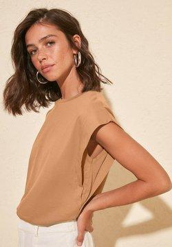 Trendyol - T-Shirt basic - beige
