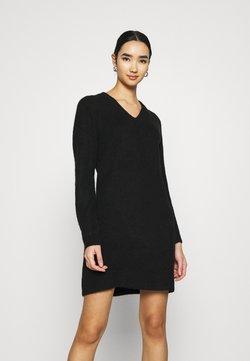 Pieces - PCELLEN V NECK DRESS - Vestido de punto - black