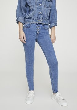 PULL&BEAR - Jeansy Skinny Fit - blue denim