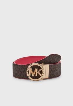MICHAEL Michael Kors - REVERSIBLE BELT - Pasek - brown/tea rose/gold-coloured