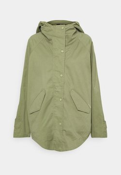 Marc O'Polo - CAPE FIX HOOD - Kurzmantel - dried sage