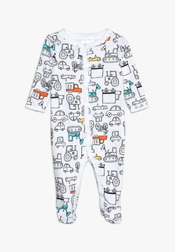 Carter's - BABY INTERLOCK TRUCKS - Pyjama - white