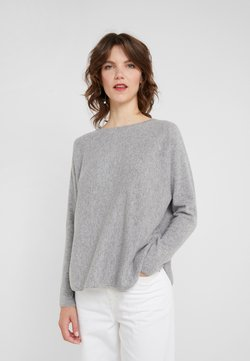 Davida Cashmere - CURVED - Stickad tröja - light grey