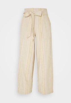 American Eagle - CHAIN STRIPE PANT - Pantalones - tan