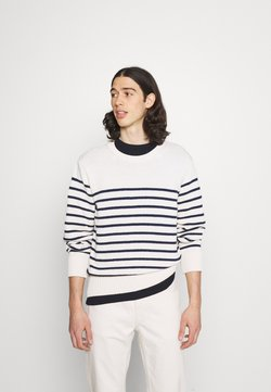 Nudie Jeans - HAMPUS - Strickpullover - offwhite/navy