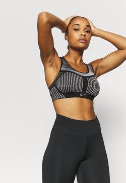 Nike Performance - FE/NOM FLYKNIT BRA - Sport-bh met medium support - black/white