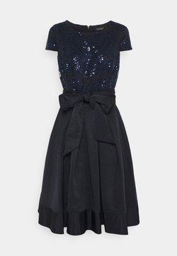 Lauren Ralph Lauren - ZIARAH CAP SLEEVE DRESS - Vestido de cóctel - lighthouse navy