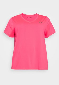 Under Armour - TECH SOLID - T-shirt basic - cerise