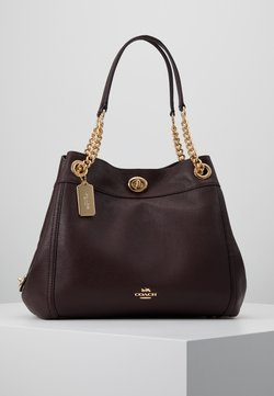 Coach - POLISHED TURNLOCK EDIE  - Handtasche - oxblood