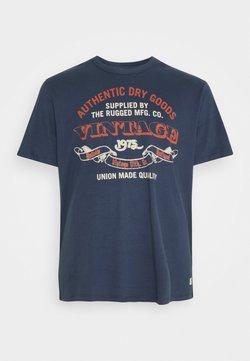 Jack & Jones - RUNNER TEE CREW NECK - T-shirt imprimé - mood indigo