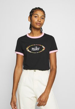 Nike Sportswear - T-Shirt print - black/pink