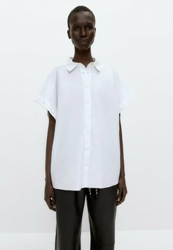 Uterqüe - MIT GOLDFARBENEN DRUCKKNÖPFEN  - Koszula - white