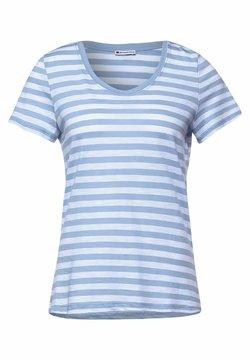 Street One - IM STREIFEN - T-Shirt print - blau
