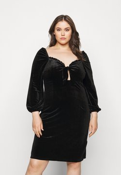 Glamorous Curve - BLACK MILKMAID DRESS - Freizeitkleid - black