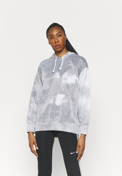 Nike Performance - HOODIE - Langarmshirt - black/white