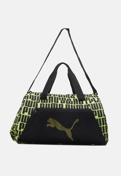 Puma - BARREL BAG - Sac de sport - black/bright gold