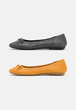 Anna Field - 2 PACK - Ballerina's - black/yellow