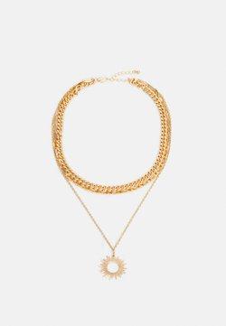 Pieces - PCBOBBIE COMBI NECKLACE - Necklace - gold-coloured