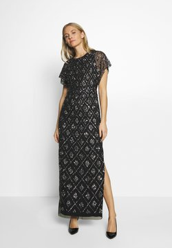 Adrianna Papell - LONG BEADED DRESS - Vestido de fiesta - black
