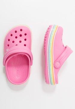 Crocs - CROCBAND RAINBOW GLITTER  - Badesandale - pink lemonade