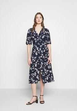 Lauren Ralph Lauren - PRINTED MATTE DRESS BELT - Day dress - navy/cream