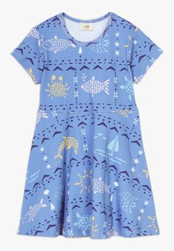 Walkiddy - MOSAIC ANIMALS DRESS - Jerseykleid - blue