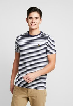 Lyle & Scott - STRIPE - T-Shirt print - navy