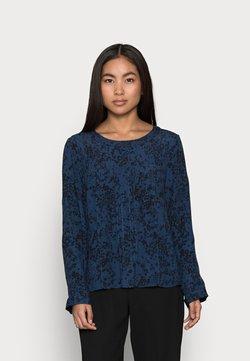 GAP Petite - WOVEN PINTUCK TEE - Bluse - blue