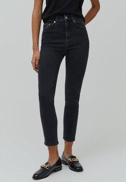 PULL&BEAR - Slim fit -farkut - black