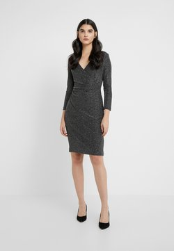 Lauren Ralph Lauren - MINI METALLIC - Shift dress - black/silver