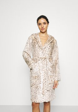 Loungeable - LEOPARD PRINT LUXURY ROBE WITH HOOD - Peignoir - brown
