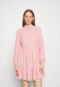 Closet - HIGH COLLAR MINI DRESS - Freizeitkleid - blush