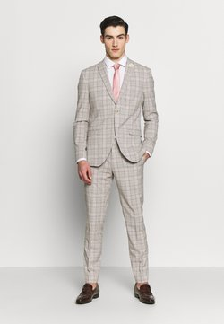 Isaac Dewhirst - PINK CHECK SUIT WEDDING - Suit - grey