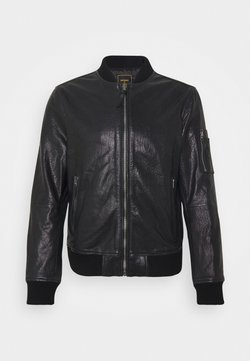 Superdry - Leren jas - black