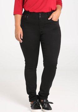 Paprika - MIT REISSVERSCHLUSS-DETAILS - Slim fit jeans - black