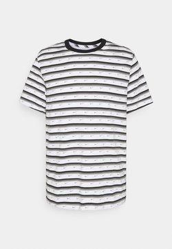 Nike Sportswear - T-Shirt print - white/black/iron grey