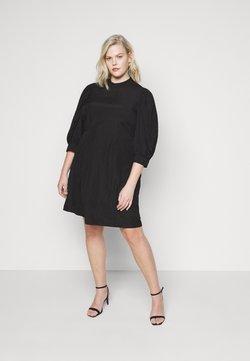 Vero Moda Curve - VMSILJE HIGH-NECK SHORT DRESS - Freizeitkleid - black