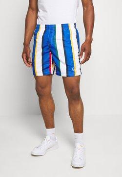 Karl Kani - SIGNATURE STRIPE - Shorts - white/blue