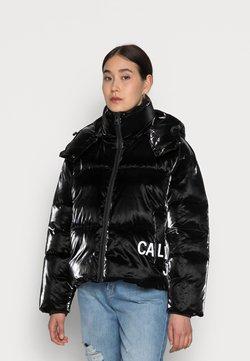 Calvin Klein Jeans - INSTITUTIONAL OVERSIZED PUFFER - Talvitakki - black